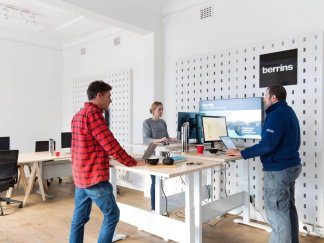 berrins stand up desks manly