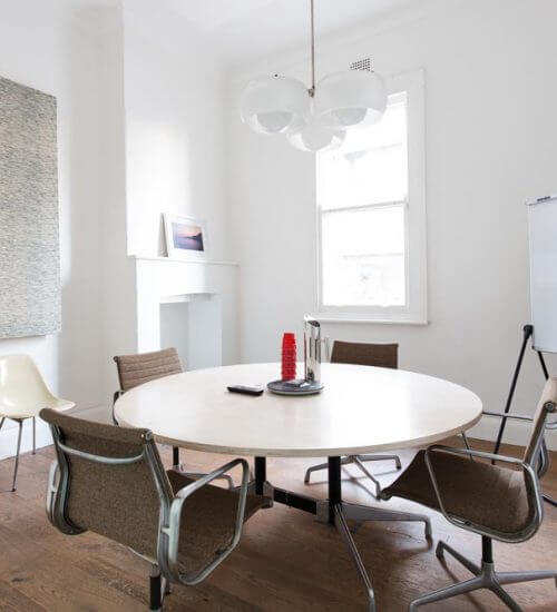mid century modern meeting room in manly